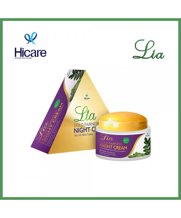 Lia gold fairness  night cream 50 g