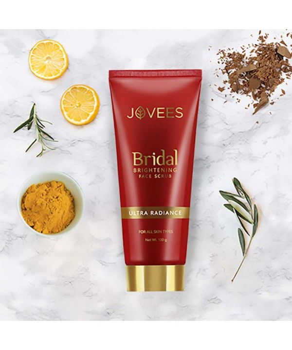 Jovees Herbal Bridal Brightening Face Scrub 100g