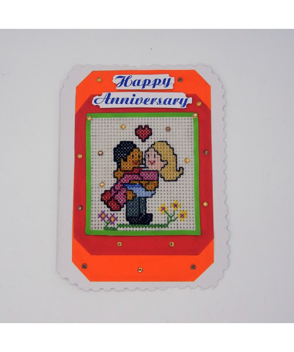 3-21 hand made anniversary greeting card