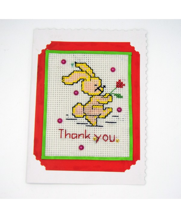 3-20 hand made thank you greeting card