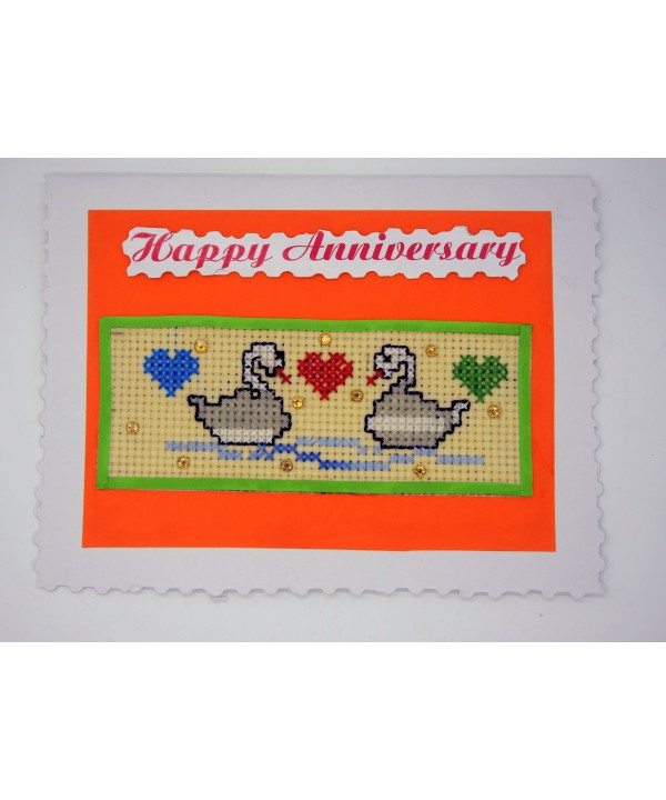 3-19 hand made anniversary greeting card
