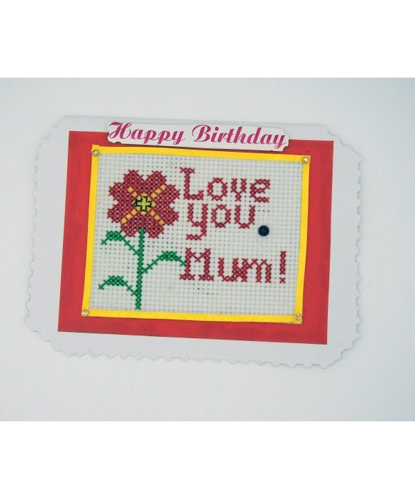 3-16 hand made birthday greeting card