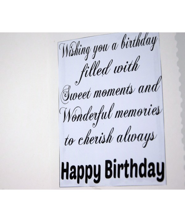 3-17 hand made birthday greeting card